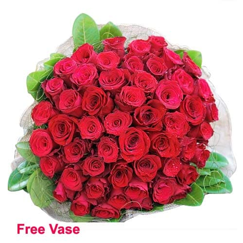 Sweet Surprises Red Roses Arrangement in a Vase