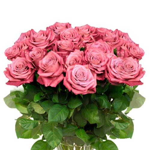 Glorious Assemble of Light Pink Roses in a Glass Vase