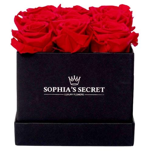 Splendid Red Roses Arrangement in a Black Gift Box
