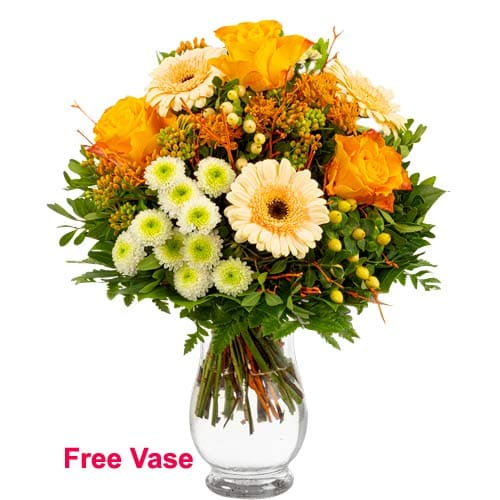 Royalty Selection Bouquet of Mixed Flowers with Vase