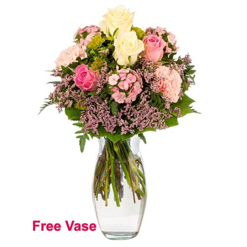 Attention-Getting Carnival of Flowers with Vase