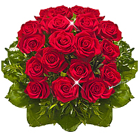 Red Roses Bouquet by Local Florist