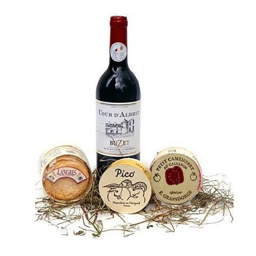 Incredibly Smart Wine and Cheese Gift Pack<br>