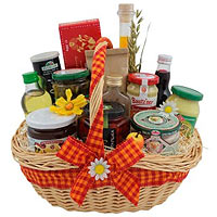 Bright Holiday Delight Gift Basket<br>