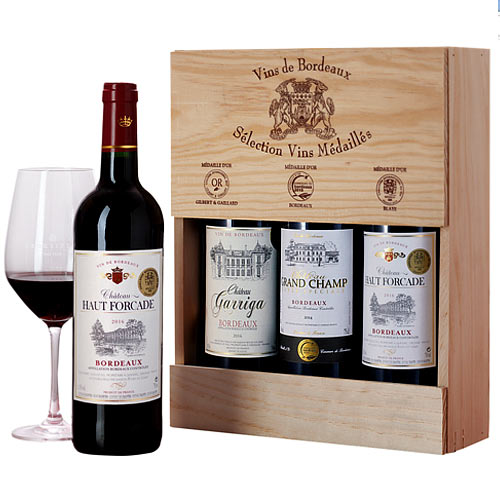 Wonderful 3 X French Wine Gift Box<br>