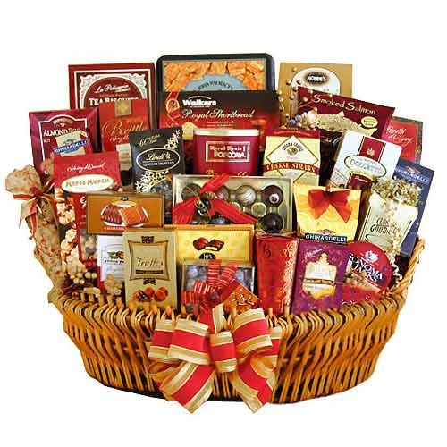 Gift Basket Christmas Wine