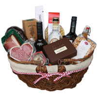 Provocative Good Holiday Gourmet Gift Basket<br>