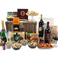 Attractive Festive Fiesta with Gourmet Gift Basket<br>