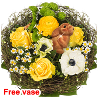 Flower Bouquet Osternest with vase