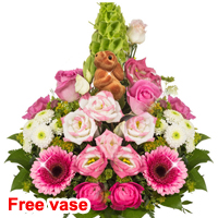 Flower Bouquet Osterbote with vase