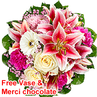 Glorious Love with Care Mixed Colored Bouquet<br>