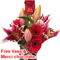 Colorful Merely for You Bouquet of Mix Flowers<br>