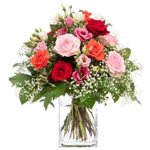 Attractive Mixed Roses Bouquet