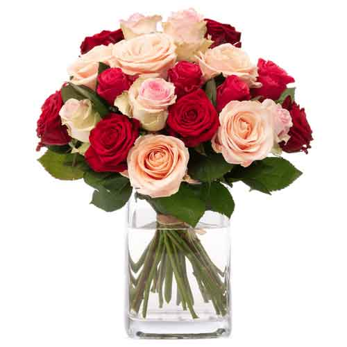 Dazzling Bouquet of Mixed Roses