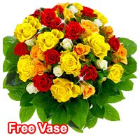 Exotic Bouquet of Mixed Roses