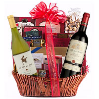 Crafty Gourmet Hamper with Wine