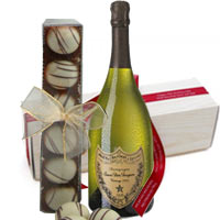Sweet Champagne Dom Perignon with Truffle chocolates