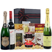 Brilliant Goodies and Champagne in Hamper