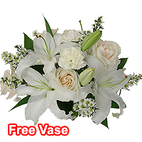 Pure Essence Bouquet with Free Vase